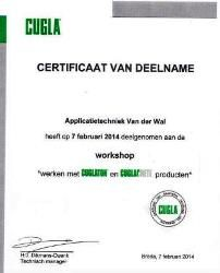certificaat betonbescherming v.d. wal