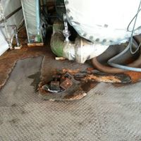 traanplaat vloer roest corrosiebescherming